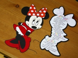 Invitatie botez decupata Minnie